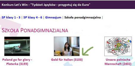 2012 II miejsce w Konkursie Let's win