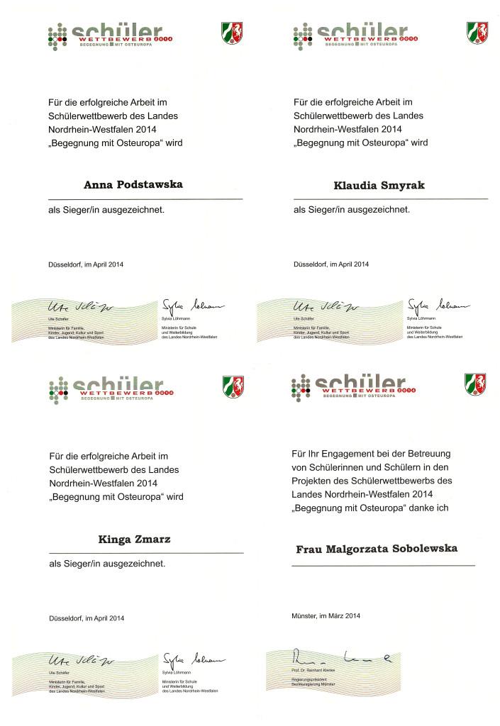 2014 Begegnung mit Osteuropa dyplomy