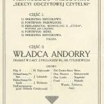 Archiwum 1912 Program Pierwszego Wieczorku