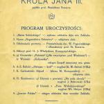Archiwum  1926 zaproszenie odsłoniecie portretu Króla Jana III Sobieksiego