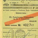 Archiwum  opłata za maturę 1938