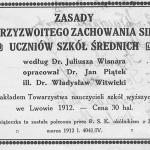 Archiwum zasady przyzwoitego zachowania się rok 1913