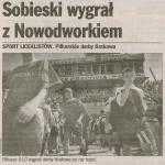 Historia szkoły Święta Wojna 1997 r.zdj.: Dziennik Polski