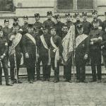 Historia szkoły  POCZET sztandarowy 1904 r