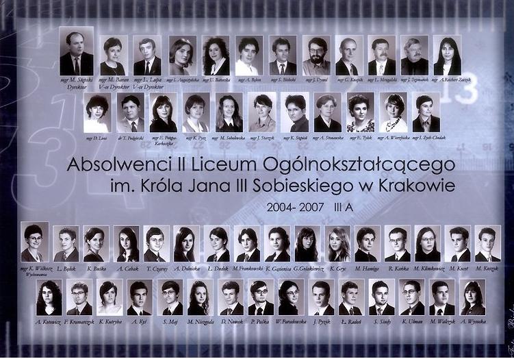 Klasa 4a, 2000-2004, II LO w Krakowie