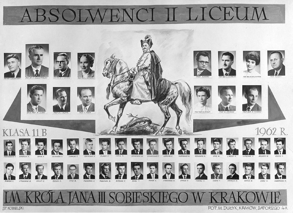 Tableau abiturientów Klasa XI b 1962
