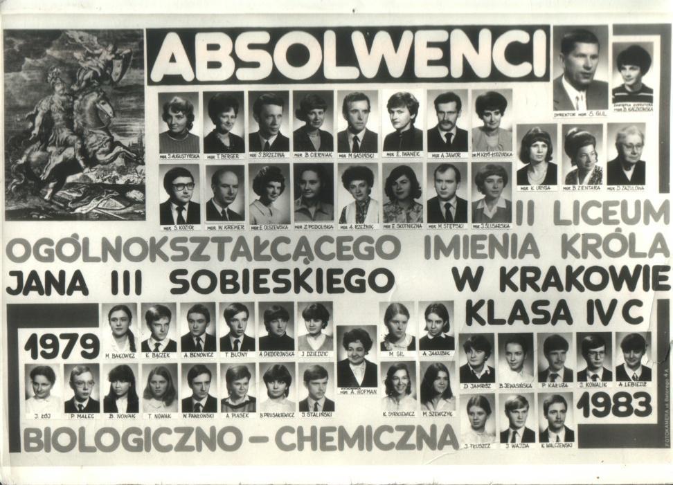 Tableau abiturientów Klasa biol-chem 1983