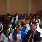 2014-10-16 Debata wyborcza Dyrektor Marek Stępski i Wicedyrektor Wioletta Nogaj