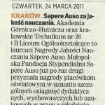 2011 Nagroda Jakości Nauczania Sapere Auso (2)
