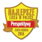 2014 Złota szkoła 2014 II LO Kraków