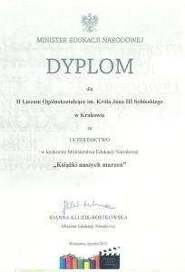 Dyplom MEN 2015