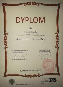 IV Olimpiada Wiedzy o Górnym Śląsku 2015