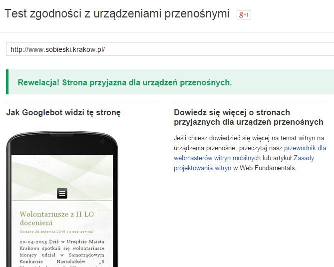 Test zgodności google 2015
