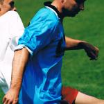 Rok 2003, Stadion Cracovii, dr Andrzej Duda w trakcie meczu reprezentacji nauczycieli i absolwentów naszego Liceum