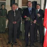 14.11.2013 Dr Andrzej Duda wygłasza okolicznościowe przemówienie w trakcie odsłonięcia tablicy poświęconej Aleksandrowi Skrzyńskiemu