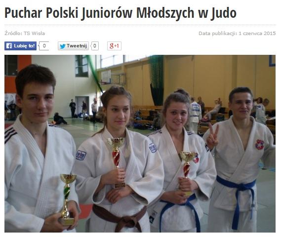 Puchar Polski Juniorów Młodszych w Judo 2015, sukces naszego judoki