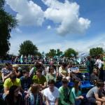 Mecz piłkarski Sobieski:Nowodworek 24.06.2015, w tylnym rzędzie Wicedyrektor II LO Leszek Lupa