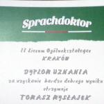 Ogólnopolski Konkurs Języka Niemieckiego Sprachdoktor 2015-2016  (klasy I)