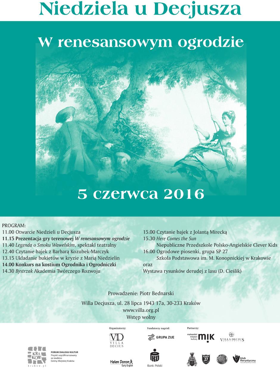 Piknik edukacyjny W renesansowym ogrodzie 2016 kopia