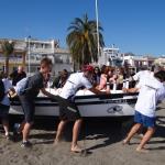 Wymiana Malaga 2016, kurs wiosłowania na plaży El Palo w Maladze