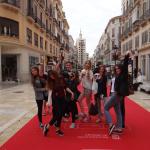Wymiana Malaga 2016, na czerwonym dywanie rozłożonym na głównej ulicy Malagi z okazji Festiwalu Filmowego