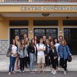 Wymiana Malaga 2016, przed szkołą w Maladze