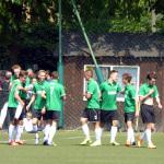 Mecz piłkarski Sobieski-Nowodworek 2016, radość po 1:0
