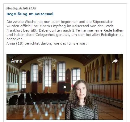 Ania pozdrawia z Frankfurtu 2016