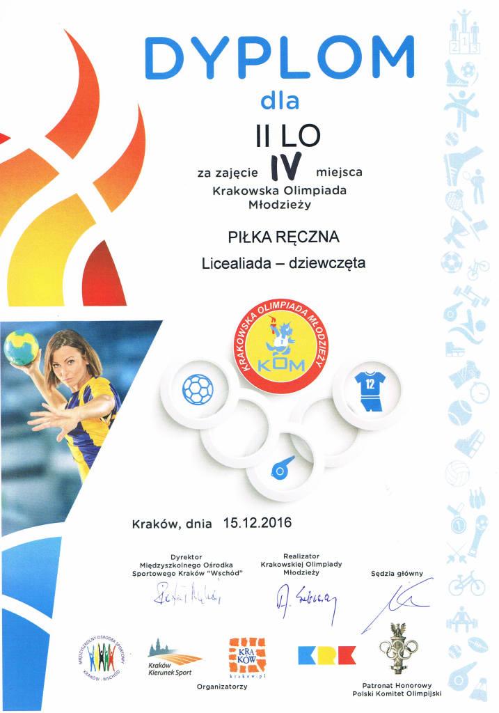 Piłka ręczna Licealiada 2016