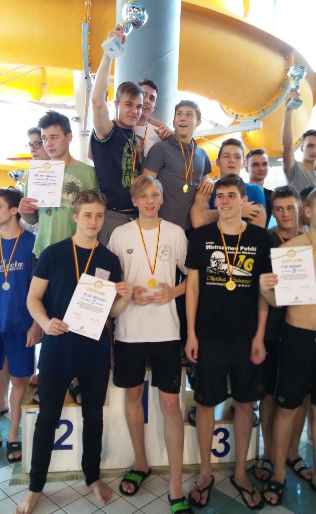 I miejsce Licealiada 2016-2017 pływanie chłopców