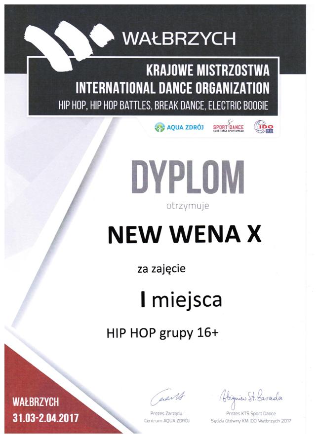 Mistrzynie Polski 2017 hip-hop >16 lat
