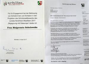 """Międzynarodowy Konkurs Projektów Uczniowskich """"Begegnung mit Osteuropa"""" 2017"""