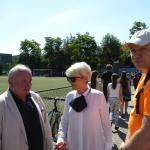 Mecz piłki nożnej Sobieski-Nowodworek  2017 dyrekcje obu szkół