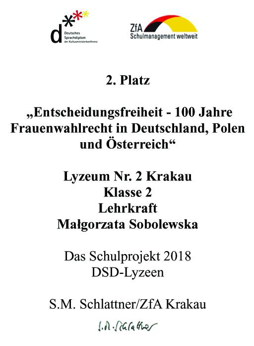 Język Niemiecki Ii Liceum Ogólnokształcące