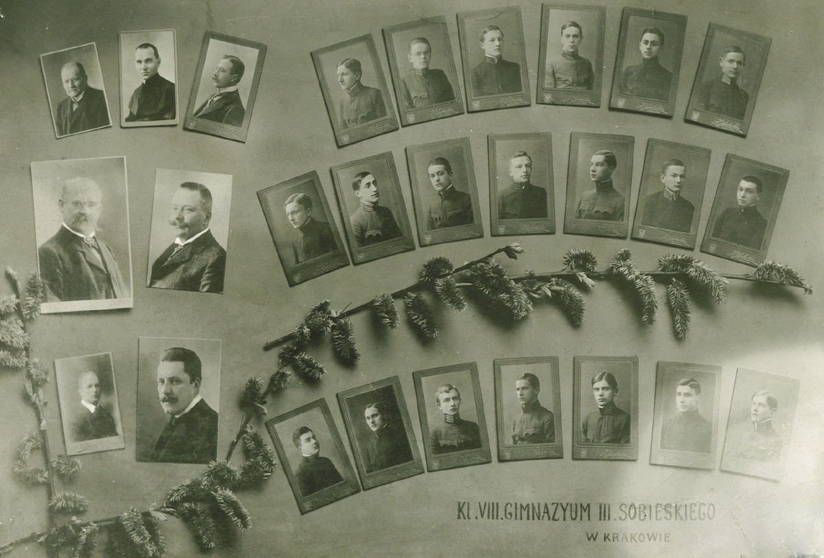 Tableau abiturientów Klasa VIII 1915