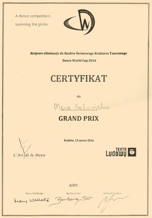Grand Prix Dance World Cup 2016