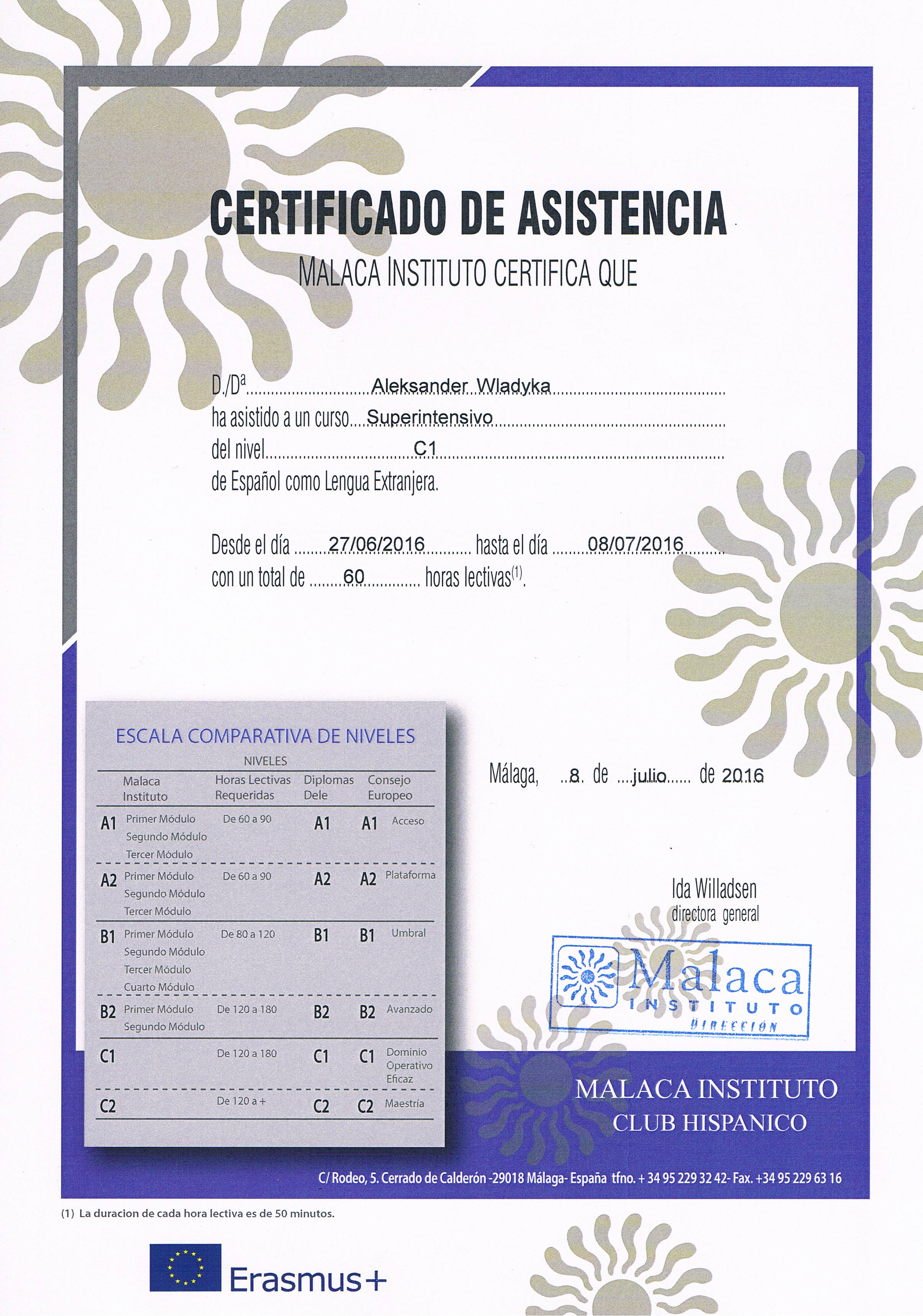 WA - certyfikat